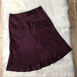 Banana Republic 100% silk skirt wine maroon